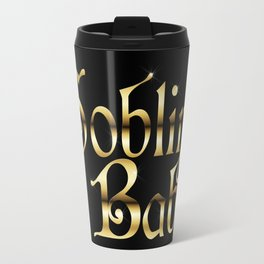 Labyrinth Goblin Babe (black bg) Travel Mug