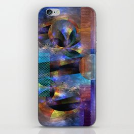 Modern colourful grunge abstract with patterns iPhone Skin