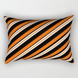 Team Colors ....orange,black, and white Rectangular Pillow