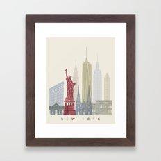 New York skyline poster Framed Art Print
