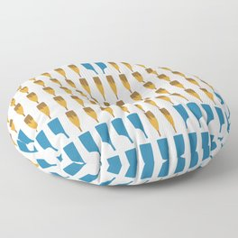 A Rower's Heart 2 Floor Pillow