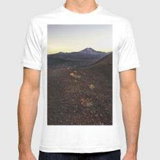 Lassen Volcanic National Park MEDIUM White Mens Fitted Tee