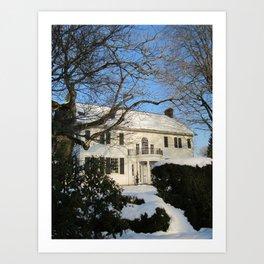 Snowy Home Art Print