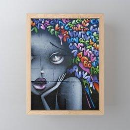 girl letters grafitti Framed Mini Art Print