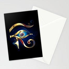 Gold Eye of Horus Stationery Cards