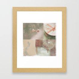 sweet december collage Framed Art Print