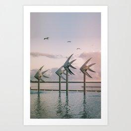 Cairns Woven Fish Sculpture (Group) | Cairns Australia Ocean Sunrise Travel Photography Art Print