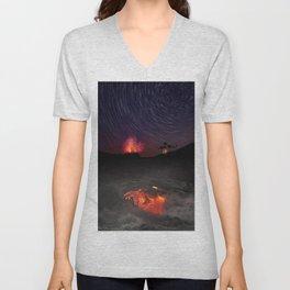 Kilauea Volcano Eruption .4 Unisex V-Neck