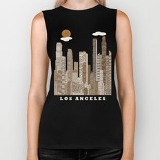 los angeles city   (vintage) Biker Tank
