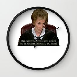 Did you think? Wall Clock