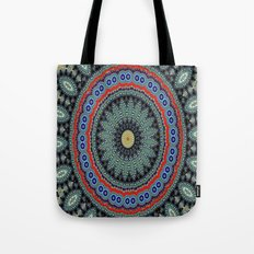 Lovely Healing Mandalas in Brilliant Colors: Black, Wheat, Slate Gray Red and Purple Tote Bag