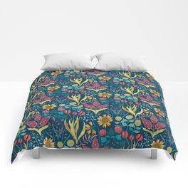 Florid Dreams Blue Comforters