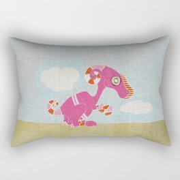 Kangaroo Go-Go Pink Rectangular Pillow