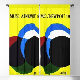 1961 Newport Jazz Festival Vintage Advertisement Poster Newport, Rhode Island Blackout Curtain