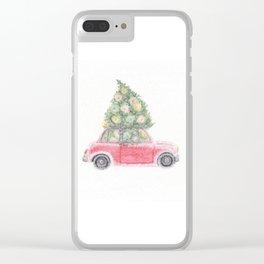 JOY ride- watercolor Clear iPhone Case