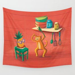 Funny Kitchen Wall Tapestry