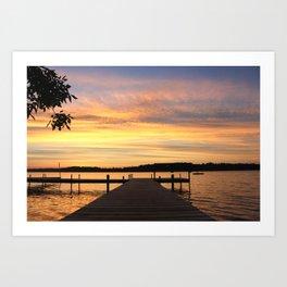 Lake Living Art Print