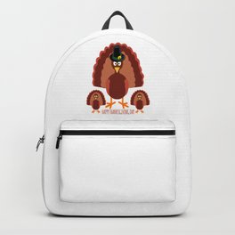 Turkey Family Happy Thanksgiving Day Backpack