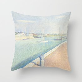 The Channel of Gravelines, Petit Fort Philippe Throw Pillow
