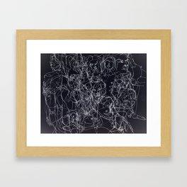 scribblesheet one negative Framed Art Print