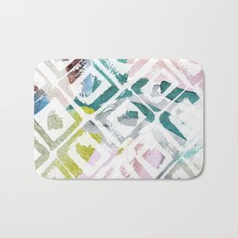 Awash | Colorful Geometric Print Bath Mat