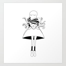 Mrs Octopus Art Print