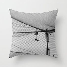 Hanging Sneakers Throw Pillow