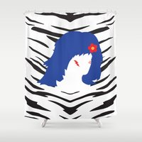 misfits Shower Curtains featuring STORMER by Tyler Pentland