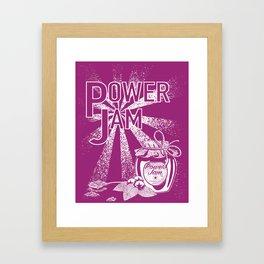 Power Jam graphic Framed Art Print