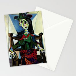 Dora Maar au Chat by Pablo Picasso Stationery Cards