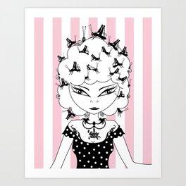 Lady CriCri Art Print