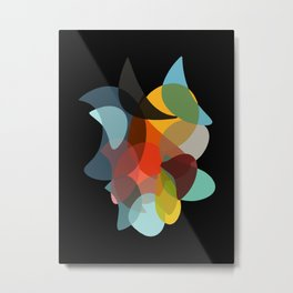 COLORED ENCOUNTERS BLACK Metal Print