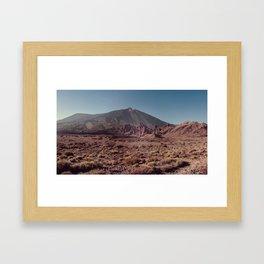 Teide volcano Framed Art Print