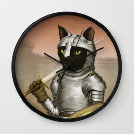 Fighter Cat Wall Clock
