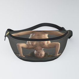 5195s-NLJ Beautiful Fit Woman Nude Headstand Split Naked Yoga Pose Fanny Pack