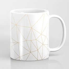 Geometric Gold Minimalist Design Coffee Mug