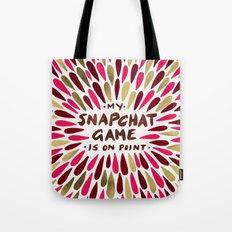 Snapchat – Red & Gold Tote Bag