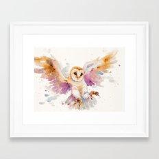 Twilight Owl Framed Art Print