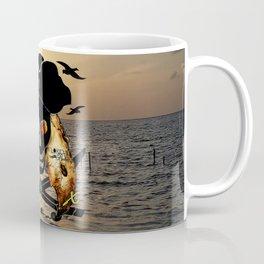 Fishing with a Florida Pirate Coffee Mug