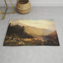 An Artist S View Of Mt Lafayette 1871 By Thomas Hill | Reproduction Rug