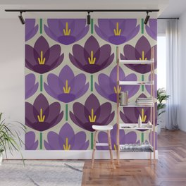 Crocus Flower Wall Mural