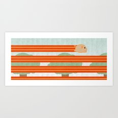 The Unstoppable Bacon Art Print
