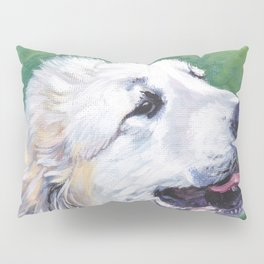 Great Pyrenees dog portrait art from an original painting by L.A.Shepard Pillow Sham