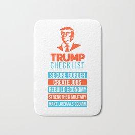 Trump Republican MAGA checklist First Gift Bath Mat