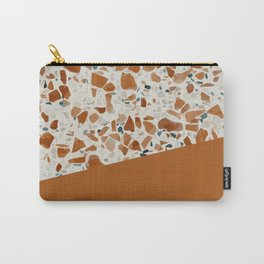 Terrazzo Texture Antique Mustard #3 Carry-All Pouch