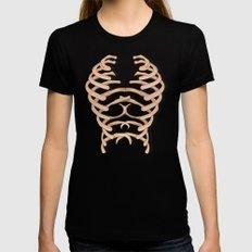 skull chest Black MEDIUM Womens Fitted Tee