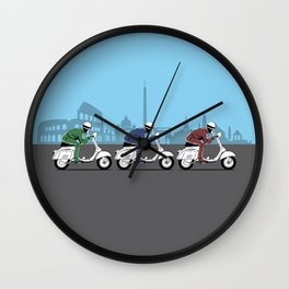 The Vintage Italian Scooter Trio Wall Clock