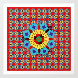 Persian Flowers Pattern V.1 Art Print