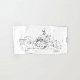 a motorcycle Hand & Bath Towel