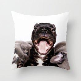 It's a Ruff life being a Puppy! Throw Pillow